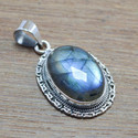 925 STERLING SILVER HAND FINISHED JEWELRY LABRADORITE STONE PENDANT WP-5550