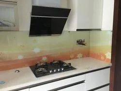 Glass Printing for kitchen interior