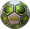 Syn6 White With Green Soccer Ball - Ss2000m