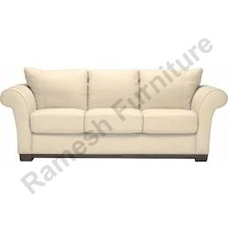 White Soft Fabric Modern Sofa
