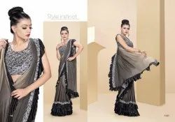 Splendid Fancy Fabric Embroidered Party Wear Saree