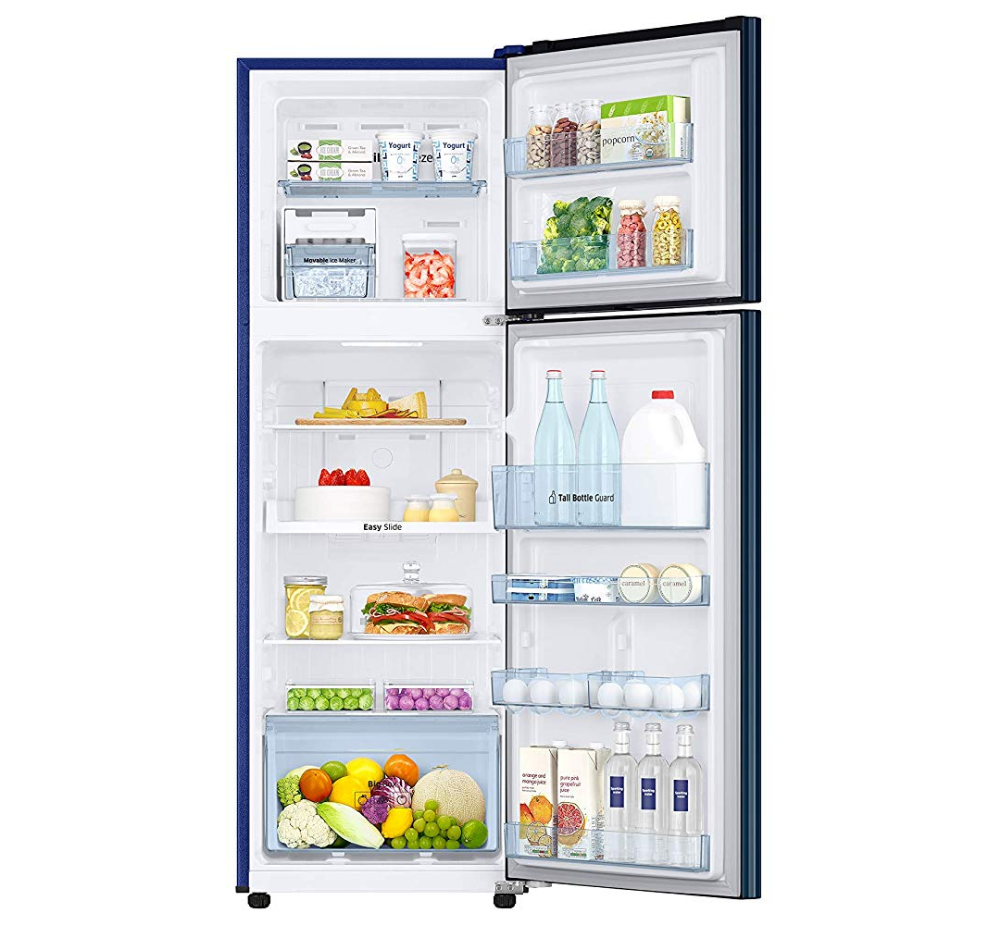 Samsung 275 L 4 Star Frost Free Double Door Refrigerator (RT30R3724U8/HL,  SAFFRON BLUE), Price from Rs.29500/unit onwards, specification and features