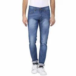 Blue Men Faded Denim Jeans