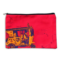 Orange Taxi Canvas Utility Pouch