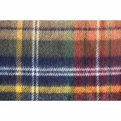 Multicolor Checkered Wool Blend Fabric