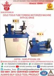 Gold Tool  Jewelry Tube Forming Machine Motorized