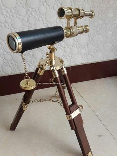 Maritime Lower Price with Brass Telescope Nautical Collectible Hand-made Golden Finish With Wooden Stand