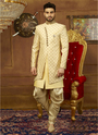 Banarasi Silk Wedding Wear Indo Western Sherwani