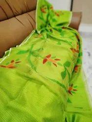 Handloom Matka Muslin Floral Jamdani Saree