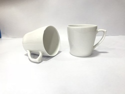 Ceramic White Ear Tea Mug