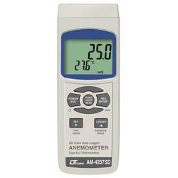 Anemometer Type K/J Temperature Real Time Data Recorder