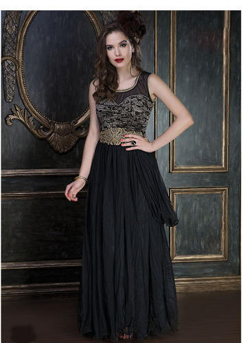 99323b0fbb3e Ethnic 40 Designer Party Wear Black Color Long Gown, Rs 2599 /piece ...
