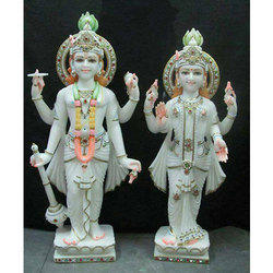 Marble Narayan Laxmi Statue