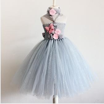 4d14930d095 Sky Blue Baby Tutu Silver Gown Girl Dress For Birthday Party, Rs ...