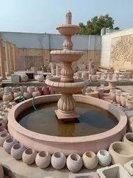 Beige Sandstone Garden Fountain