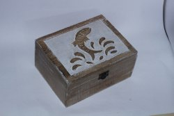 Mango Wooden Handcrafted Aqua inspired Box