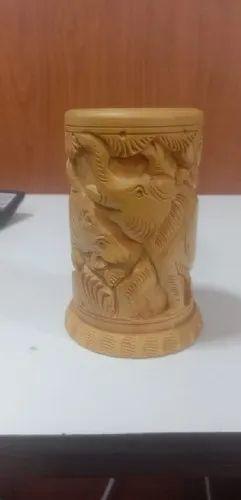 Wooden Handicraft Elephant Stand