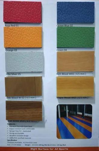 Gym PVC Vinyl Sports Flooring