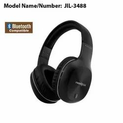 Black Frontech JIL-3488 Bluetooth Headphone