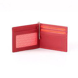 Standard Red Leather Money Clipper