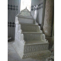 White Carved Makrana Marble Qibla, For Masjid