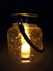 Glass Jar With Rope Handle