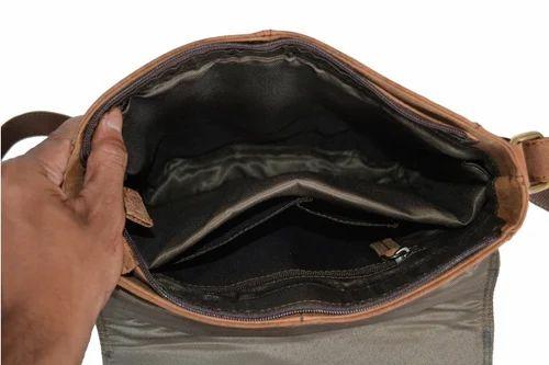 0899b48466 Handmade Crazy Horse Leather Men  s Brown Messenger Laptop Bag