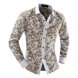 Raymonds Cotton Mens Printed Shirt
