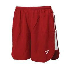 Red Polyester Mens Fitness Athletics Workout Shorts