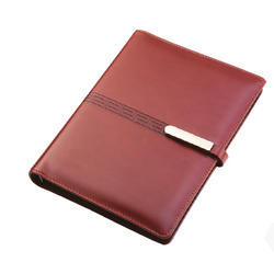 Brown Lock Leather Notebook