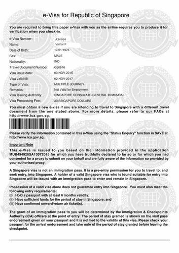 Singapore Visa Stamping in Mumbai, Powai by Tour & Travels