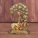 Metal Lord Krishna statue