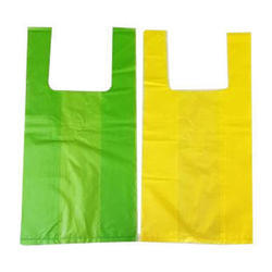 Green , Yellow Plain U Cut PP Carry Bag, Capacity: 2kg