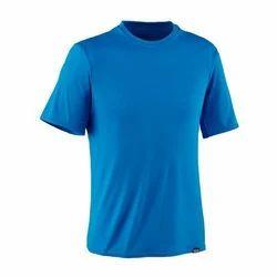 Half Sleeves Sky Blue Mens Round Neck T-Shirt