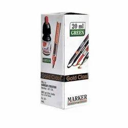Gold Class 20 ml Green Permanent Marker Ink