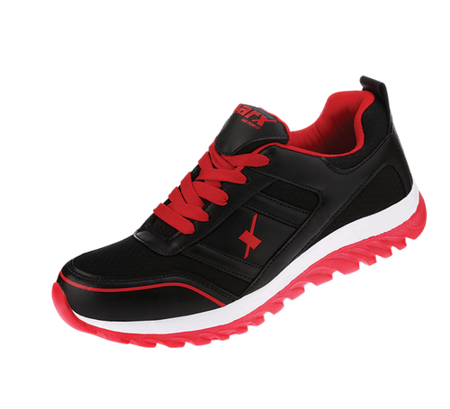 Black And Red Sparx Men Shoes (SM-502