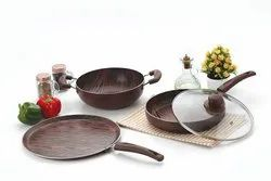 Nirlon Nonstick Woddy Cookware Set