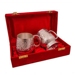 Silver And Gold Plated Tea Cup Set
