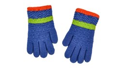 Navy Blue Soft Woolen Gloves