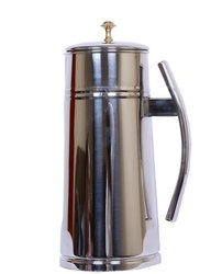 Round Stainless Steel Jug Premium With Brass Knob