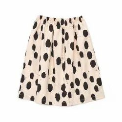 Ladies Cotton Dotted Skirt