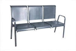 Silver Coated Three Seater