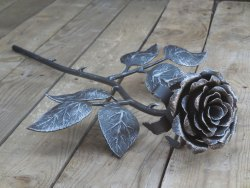 Rose Metal Hand forges iron flower