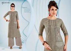 Cotton Half Sleeve Shubh Nx Alina Kurti with Button