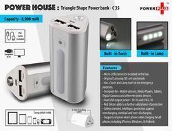 Power Plus Power House Triangle Shape Power Bank (6000 mAh), C35