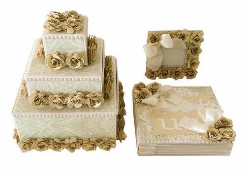 Crack Of Dawn Crafts Wedding Cake Gift Set Vintage Cream Wedding