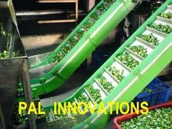 Stainless Steel Electric Industrial Inclined Conveyors, Capacity: 200 Kg/M