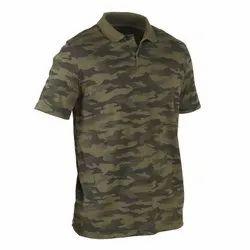 Decathlon 100 2XL Camouflage Khaki Men Polo T-Shirt