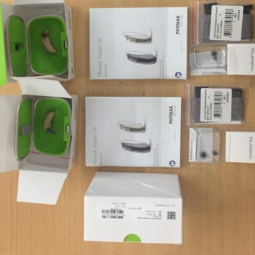 Phonak Marvel Audeo M50-R RIC BTE Rechargeable Hearing Aid With Mini Charger