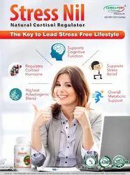 Stress Relief 500 Mg Natural Cortisol Regulator, Grade Standard: Food Grade, Packaging Size: 60 Capsules
